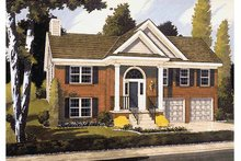 Colonial Exterior - Front Elevation Plan #46-788