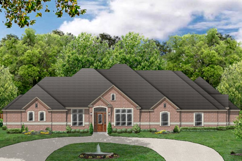 Traditional Exterior - Front Elevation Plan #84-498 - Houseplans.com