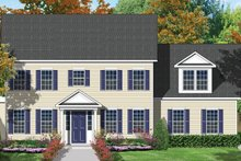 Colonial Exterior - Front Elevation Plan #1053-18
