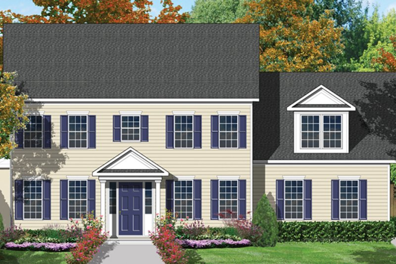 Colonial Exterior - Front Elevation Plan #1053-18 - Houseplans.com