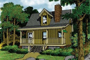 Home Plan - Mediterranean Exterior - Front Elevation Plan #417-577