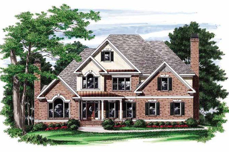 Colonial Exterior - Front Elevation Plan #927-760