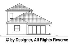 House Plan Design - Mediterranean Exterior - Rear Elevation Plan #1017-90
