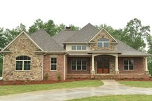 Architectural House Design - Country Exterior - Front Elevation Plan #437-72