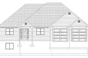 Ranch Style House Plan - 3 Beds 2 Baths 1729 Sq/Ft Plan #1060-10 Exterior - Front Elevation
