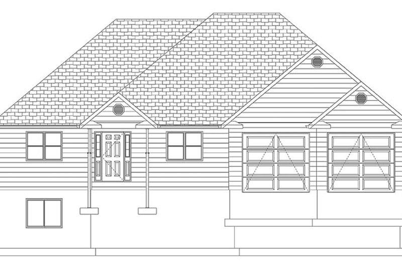 Ranch Exterior - Front Elevation Plan #1060-10 - Houseplans.com