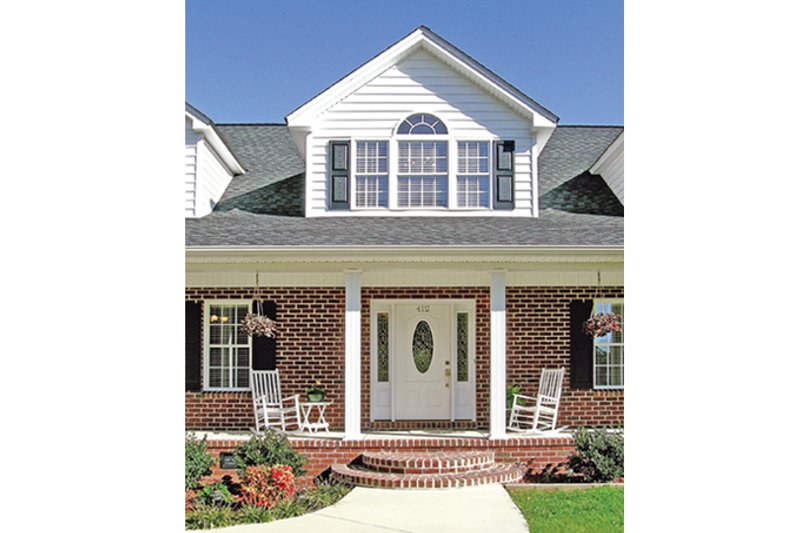 Country Exterior - Front Elevation Plan #314-281 - Houseplans.com