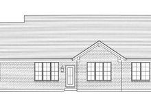 Craftsman Exterior - Rear Elevation Plan #46-836