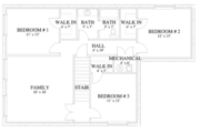 Traditional Style House Plan - 7 Beds 4 Baths 3841 Sq/Ft Plan #1060-17 Floor Plan - Lower Floor