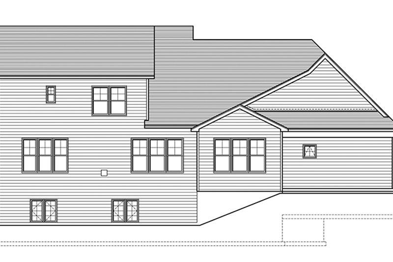 Craftsman Exterior - Rear Elevation Plan #1010-161 - Houseplans.com