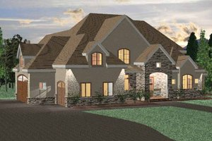 Home Plan - Country Exterior - Front Elevation Plan #937-12