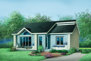 European Style House Plan - 2 Beds 1 Baths 1031 Sq/Ft Plan #25-1109 Exterior - Front Elevation