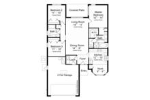 Mediterranean Floor Plan - Main Floor Plan Plan #417-820