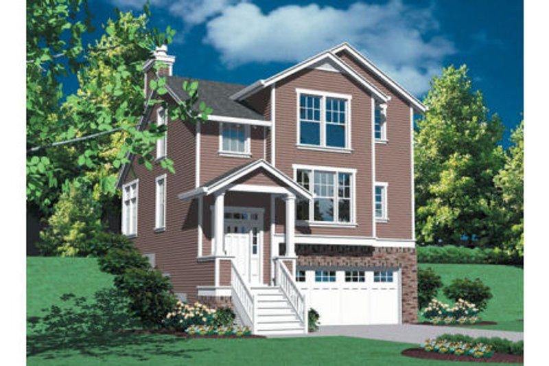 Traditional Exterior - Front Elevation Plan #48-317
