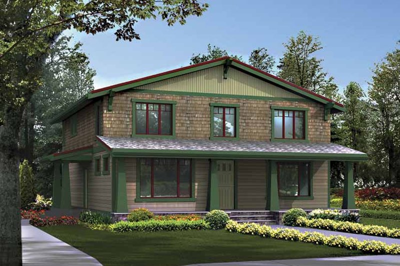 Craftsman Exterior - Front Elevation Plan #132-405