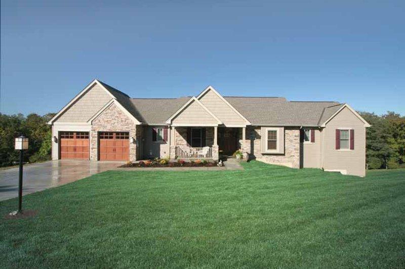 Ranch Exterior - Front Elevation Plan #46-661 - Houseplans.com
