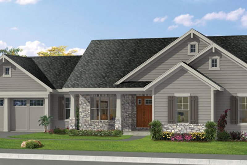 Craftsman Exterior - Front Elevation Plan #46-840 - Houseplans.com