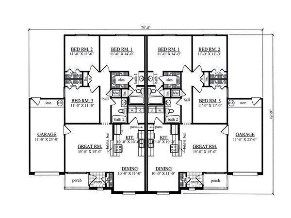 Traditional Floor Plan - Main Floor Plan Plan #42-378