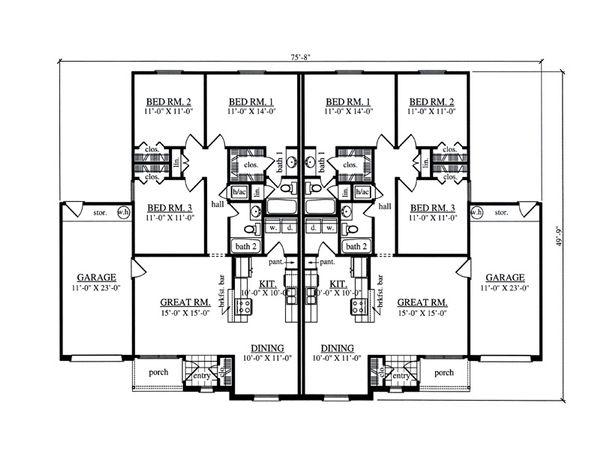 Dream House Plan - Traditional Floor Plan - Main Floor Plan #42-378