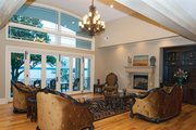 European Style House Plan - 4 Beds 4 Baths 6155 Sq/Ft Plan #929-895 Interior - Family Room