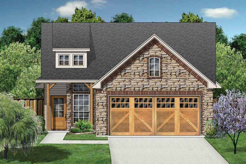 Dream House Plan - Ranch Exterior - Front Elevation Plan #84-668