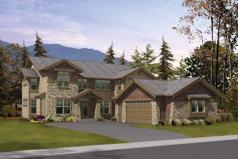 Craftsman Exterior - Front Elevation Plan #132-447