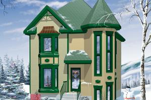 Victorian Exterior - Front Elevation Plan #25-2029