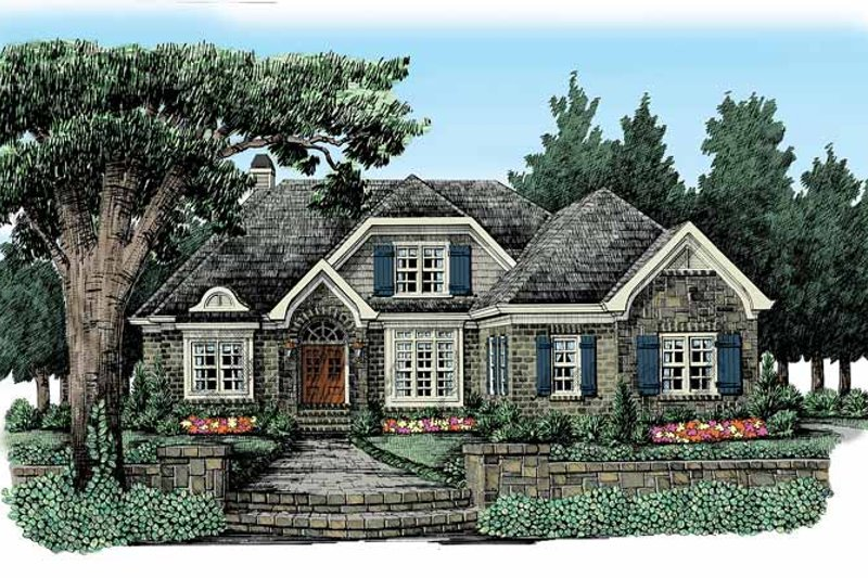 European Exterior - Front Elevation Plan #927-369