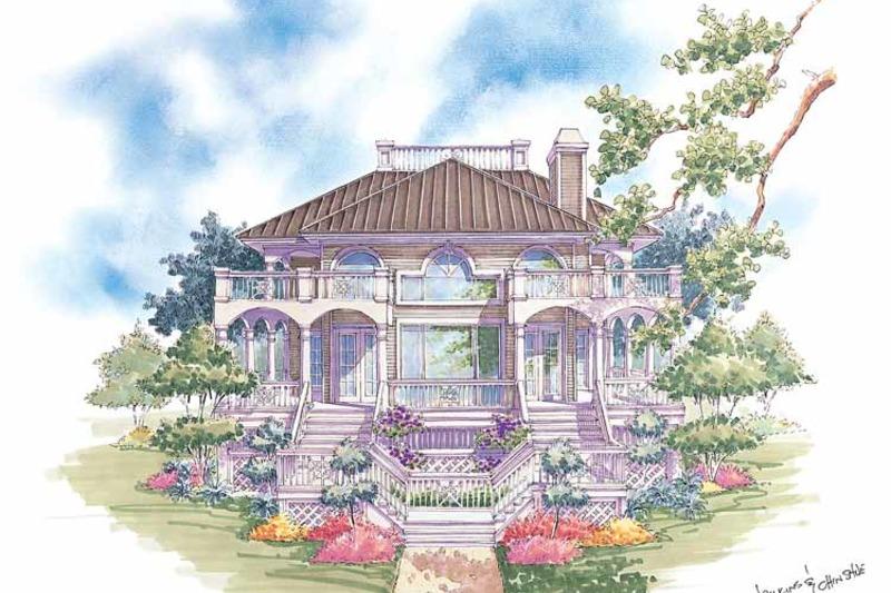Classical Exterior - Rear Elevation Plan #930-76 - Houseplans.com
