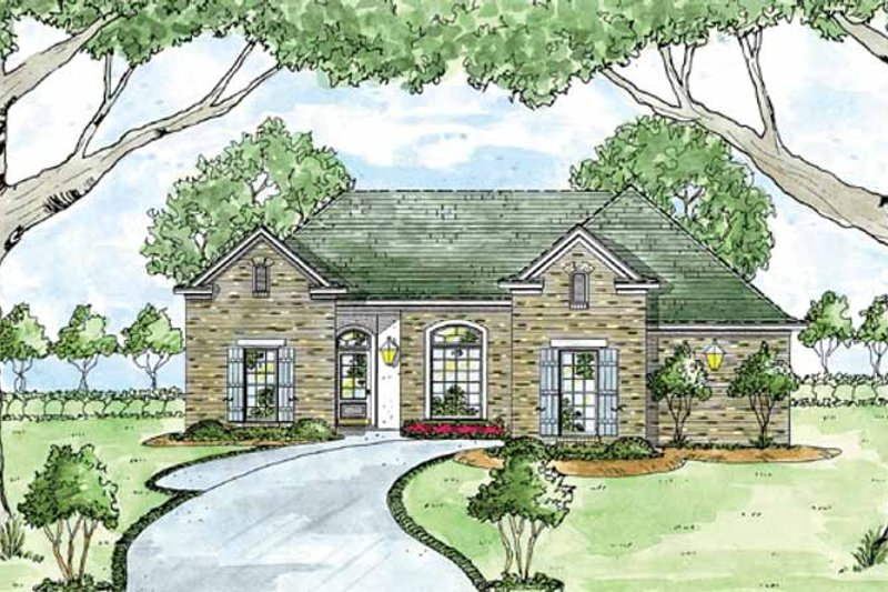 Dream House Plan - Ranch Exterior - Front Elevation Plan #36-591