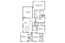 Contemporary Floor Plan - Upper Floor Plan Plan #1021-17
