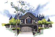 Country Exterior - Front Elevation Plan #509-139