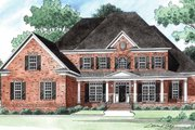 Traditional Style House Plan - 5 Beds 4.5 Baths 4066 Sq/Ft Plan #1054-15 Exterior - Front Elevation