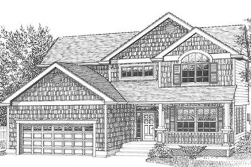 Craftsman Style House Plan - 4 Beds 2.5 Baths 2373 Sq/Ft Plan #53-265 Exterior - Front Elevation