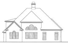 House Plan Design - European Exterior - Rear Elevation Plan #54-290