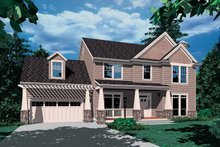 Dream House Plan - Craftsman Exterior - Front Elevation Plan #48-801