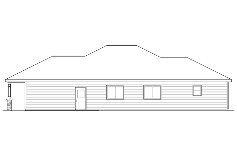 Traditional Exterior - Other Elevation Plan #124-912 - Houseplans.com