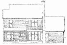 House Blueprint - Country Exterior - Rear Elevation Plan #72-319