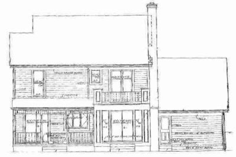 Country Exterior - Rear Elevation Plan #72-319 - Houseplans.com