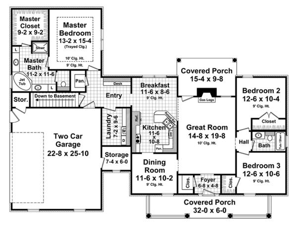 Home Plan - Ranch Floor Plan - Main Floor Plan #21-437