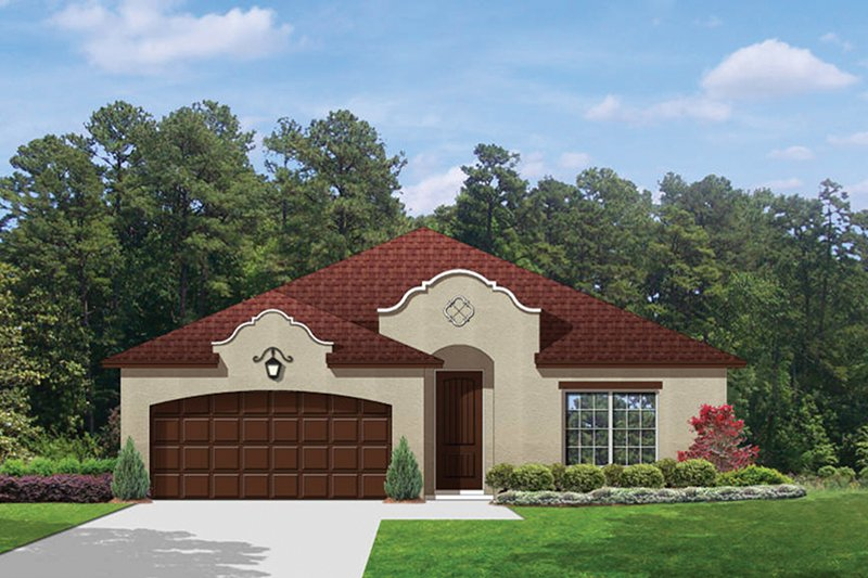 Mediterranean Exterior - Front Elevation Plan #1058-70 - Houseplans.com