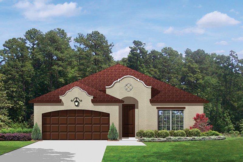 House Plan Design - Mediterranean Exterior - Front Elevation Plan #1058-70