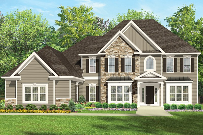 Traditional Exterior - Front Elevation Plan #1010-172 - Houseplans.com