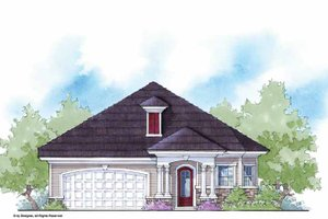 Architectural House Design - Country Exterior - Front Elevation Plan #938-19