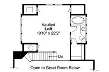 Cottage Floor Plan - Upper Floor Plan Plan #124-473