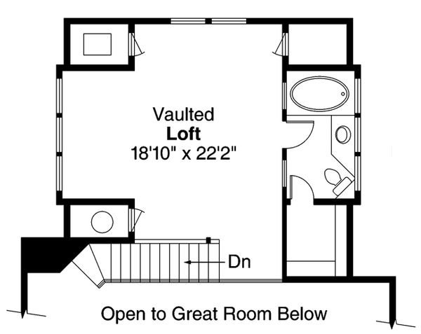 Cottage Floor Plan - Upper Floor Plan #124-473