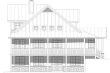 Dream House Plan - Country Exterior - Rear Elevation Plan #932-348