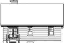 Dream House Plan - Traditional Exterior - Rear Elevation Plan #23-783