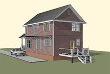 Home Plan - Traditional Exterior - Rear Elevation Plan #79-272