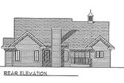 Traditional Style House Plan - 3 Beds 2 Baths 1600 Sq/Ft Plan #70-155 Exterior - Rear Elevation